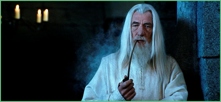 Gandalf fume la pipe