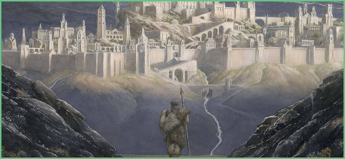 Illustration du roman The Fall of Gondolin
