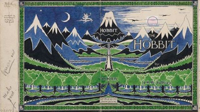 Tolkien was closely involved in the production process of The Hobbit's dust jacket and binding